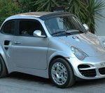 Fiat 500 als Porsche verkleidet